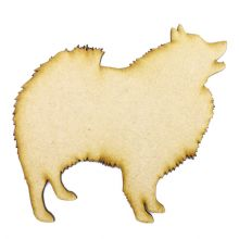 Keeshond Craft Blank, Dog Shape Laser Cut from 3mm MDF, Card Topper